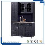 台所セットのためのインドのタイプPVC 3ドアの安い木製の食器棚
