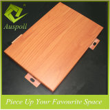 Panneaux de mur en aluminium de couleur en bois décorative d'intérieur d'utilisation