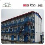Camera prefabbricata modulare di basso costo della struttura d'acciaio del panino Multi-Storey di Prefabricared per il campo di lavoro/dormitorio provvisorio
