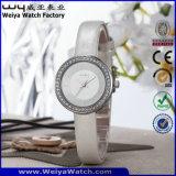 Kundenspezifische Marken-Firmenzeichen-Quarz-Uhr-Form-Dame-Armbanduhren (WY-090E)