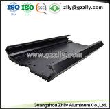 Perfil de alumínio 6.063 de fábrica para o dissipador de calor do radiador de equipamento de áudio do carro