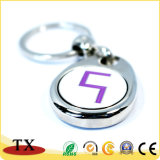Preiswerter kundenspezifischer Schlüsselring-Decklack mit Firmenzeichen-Münzen-Schlüsselkette