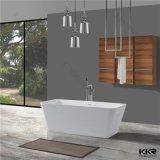 baignoire blanche carrée de 1050X1050mm Corian pour l'usage de ménage