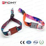 Wristband tessuto RFID Ultralight di festival tessuto NFC