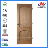 La mejor puerta de madera de la chapa del roble rojo del MDF de madera sólida (JHK-009-1K)
