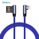 Winkel-Kopf 3FT Jean USB-Daten-Kabel für iPhone X