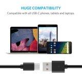 El USB pulsa el cable de C, cuerda del cable del cargador de los datos del USB C para el juego U11, HTC 10, LG Q8, LG G5 G6/V20, galaxia Aquos activo, sostenido el S2 y el otro USB C de S8 de HTC U de Samsung