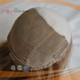 Peluca superior de seda rubia corta del frente del cordón (PPG-l-01727)