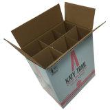 Scatola di trasporto della bottiglia di vino dei 6 pacchetti con i divisori (FP6076)