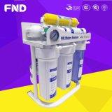 Домоец под очистителем распределителя фильтра воды системы RO этапа раковины 7 чисто