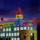 indicatore luminoso al neon della corda del regolatore di 220V 15*25mm LED RGB DMX con illuminazione di striscia al neon di paesaggio esterno