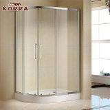 Pièce jointe encadrée classique de douche avec deux panneaux de porte coulissante