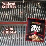 De Mat van de Grill van Grillaholics - Reeks van 2 plak niet Opnieuw te gebruiken BBQ Roosterend Matten en Gemakkelijk schoon te maken - breidde de Mat van de Grill van de Garantie (uit x-y-sm-005)