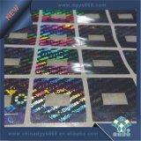 De Druk van de Sticker van het Effect van het Hologram van het Aluminium van de was