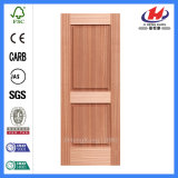 Marco de la puerta de caoba de la puerta de chapa de madera maciza puerta de la piel (JHK-017)