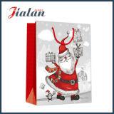 La insignia de encargo del surtidor de BSCI imprimió la bolsa de papel del diseño de la Navidad