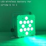 Het navulbare 12*15W Draadloze UV LEIDENE van de Batterij RGBWA Licht van het PARI