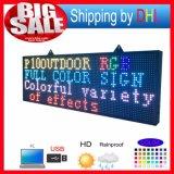 スクリーン27X39のインチの防水プログラム可能なスクローリングカラーSMD伝言板を広告するP10 LED