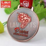 Medaglia massima blu del metallo del fornitore della Cina di sport su ordinazione del premio