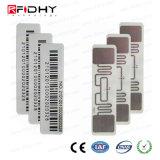 Tag esperto passivo da etiqueta 860MHz-960MHz RFID da freqüência ultraelevada da impressão estrangeira do logotipo H3