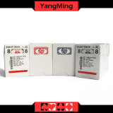 MOQ 5Kのカジノのカスタムトランプのカジノの黒の青いコア製紙業者のカスタムトレーディングカード(YM-PC03)