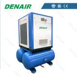 compresor eléctrico del tornillo de la refrigeración por aire 37kw con el tanque del aire
