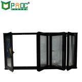 À prova de água e janelas insonorizadas Bi-Folding Alumínio Janela de vidro
