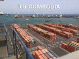 Frete do transporte da consolidação de LCL de Guangzhou a Cambodia