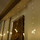 UL588の暖かい白3*3mの300LED妖精のカーテンライトは承認した