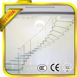 セリウム/ISO9001/CCCが付いている階段手すりのための中国の工場製造の薄板にされたガラス