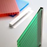 hojas plásticas de la azotea del invernadero del policarbonato de 10m m de la tarjeta clara de Sun