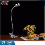 Der LED-Tisch-Beleuchtung-LED clip-Buch-Licht Schreibtisch-Lampen-Großverkauf-Fabrik-flexibles Metalltisch-Lampen-des Ziel-justierbares LED Mini