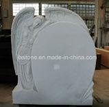 Lapide di marmo bianca pura della scultura di angelo