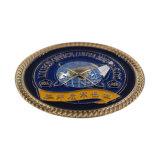 L'émail doux souvenirs colorés personnalisé Pièce de métal Millitary Gold Coin