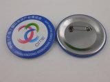カスタム円形の錫ボタン、刺繍の折りえりPin (GZHY-TB-011)
