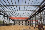 Edificio de marco pintado de la estructura de acero
