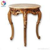 Tabla de deslizar la consola de madera con muebles antiguos de bastidor de madera pintadas de oro