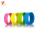 Hot Sales 6 Color Debossed larva Color Rubber Wristband of silicones strap of silicones Wristband (YB-WT-212)