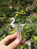 Diapositivas y tazón de fuente que fuman del vidrio para los tubos de agua de cristal que fuman
