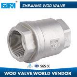 H12W rosca fêmea de aço inoxidável 304 Non-Return Vertical da Válvula de Retenção