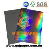 Respaldado Papel gris metalizado de transferencia de holograma de papel para embalaje