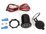 C.C. esperta 5V 2.1A/1A do carregador do telefone da auto potência da tomada do adaptador da potência do carregador do soquete do USB da motocicleta 2 para o barco K2764 do minibus ATV do caminhão do carro