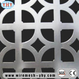 Feuille perforée en aluminium d'écran en métal, constructif décoratif