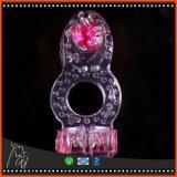 Os pares Dual brinquedos mais longos de vibração do jogo dos adultos do sexo das ejaculações do atraso das ereções do Stimulator de Clit do anel da torneira do anel do pénis do prazer