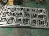 Chapa de aluminio perforado decorativos valla de seguridad grupo