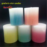 Large Bulks에 있는 다채로운 Gradient Pillar Candle