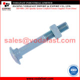 8677 DIN ISO 603 ronde à collet carré à tête bombée boulon à tête bombée avec écrou et rondelle en zinc plaqué