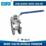 China Proveedor Wafer Válvula de bola de acero inoxidable