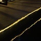 Silbernes Zeichenkette-helle Rohr-Licht des Draht-UL588 anerkanntes 33FT136LED mit der 8 Funktions-Steuerung