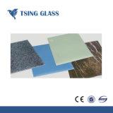 Cristal pintado de color azul/verde vidrio pintado